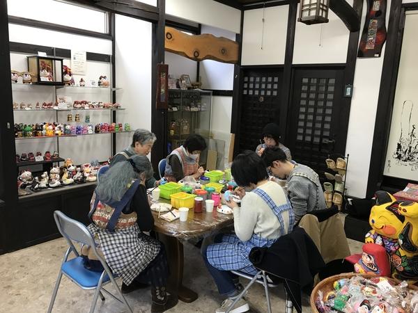 干支の絵付体験教室、2回目が開催されました。