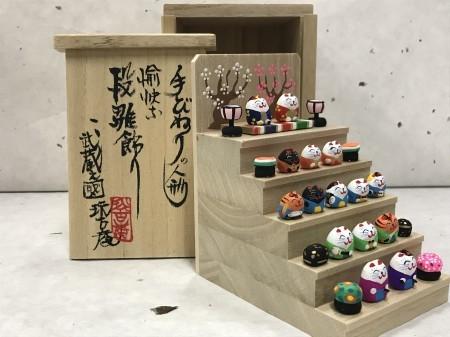ミニミニ雛段飾り 猫バージョン
