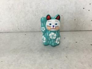 8号サイズ  和柄招き猫「松梅」