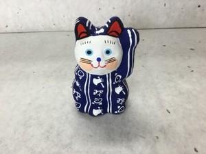 8号サイズ 和柄招き猫 「斧琴菊」