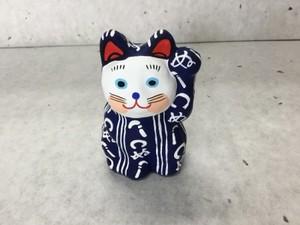 8号サイズ  和柄招き猫 「かまわぬ」