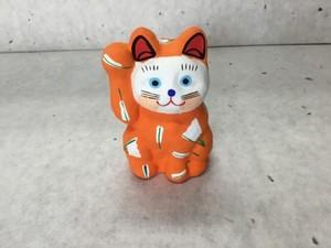 8号サイズ  和柄招き猫 「扇子」