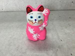 8号サイズ  和柄招き猫 「熨斗鮑」