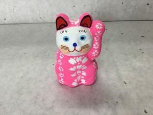8号サイズ  和柄招き猫 「桜繋ぎ」