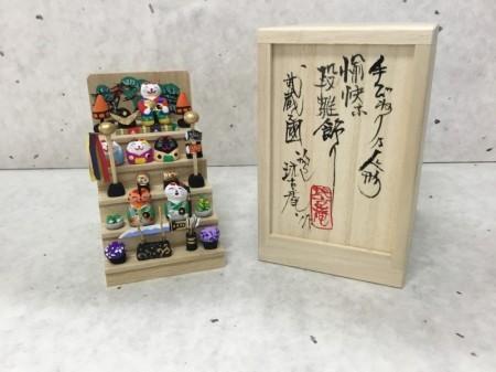 ミニミニ五月人形雛段  猫バージョン