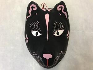 狐面(普通面) 黒桜