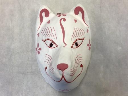 狐面(普通面) 白桜