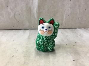 8号サイズ 和柄招き猫「唐草」