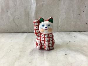 8号サイズ 和柄招き猫「賽子(サイコロ)」