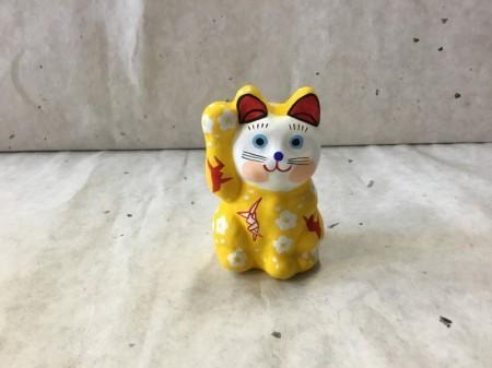 8号サイズ 和柄招き猫 「折鶴」