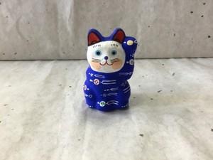 8号サイズ 和柄招き猫「簪(かんざし)」